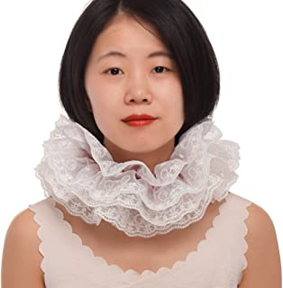 BLESSUME 1pc Lace Renaissance Neck Ruffle Collar