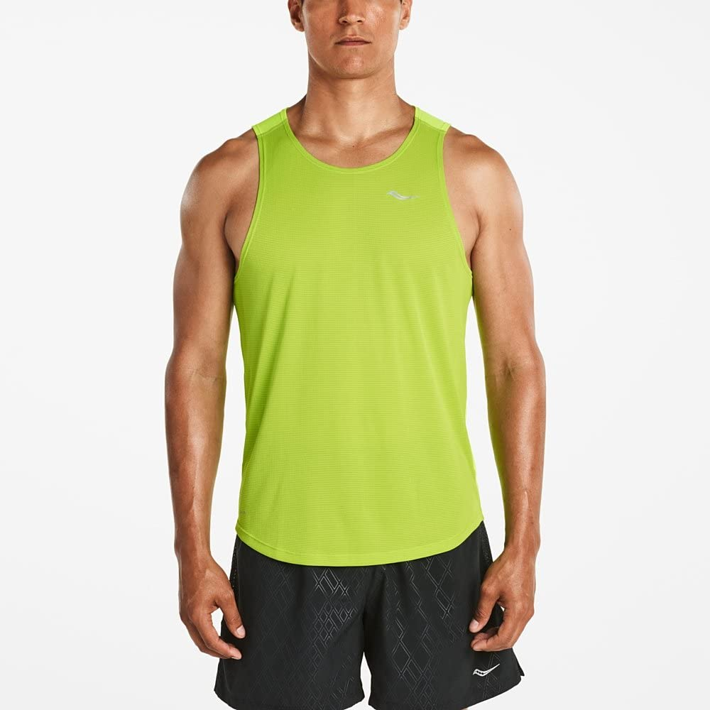 Saucony Mens Hydralite Running Top Green Sports