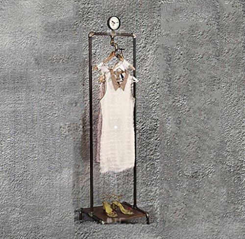QYJZI Estantes de Hierro Forjado de época Estantería de pie de Tienda de Ropa Estante de exhibición de Ropa Creativa de Personalidad (Color : 50 * 40 * 175cm)