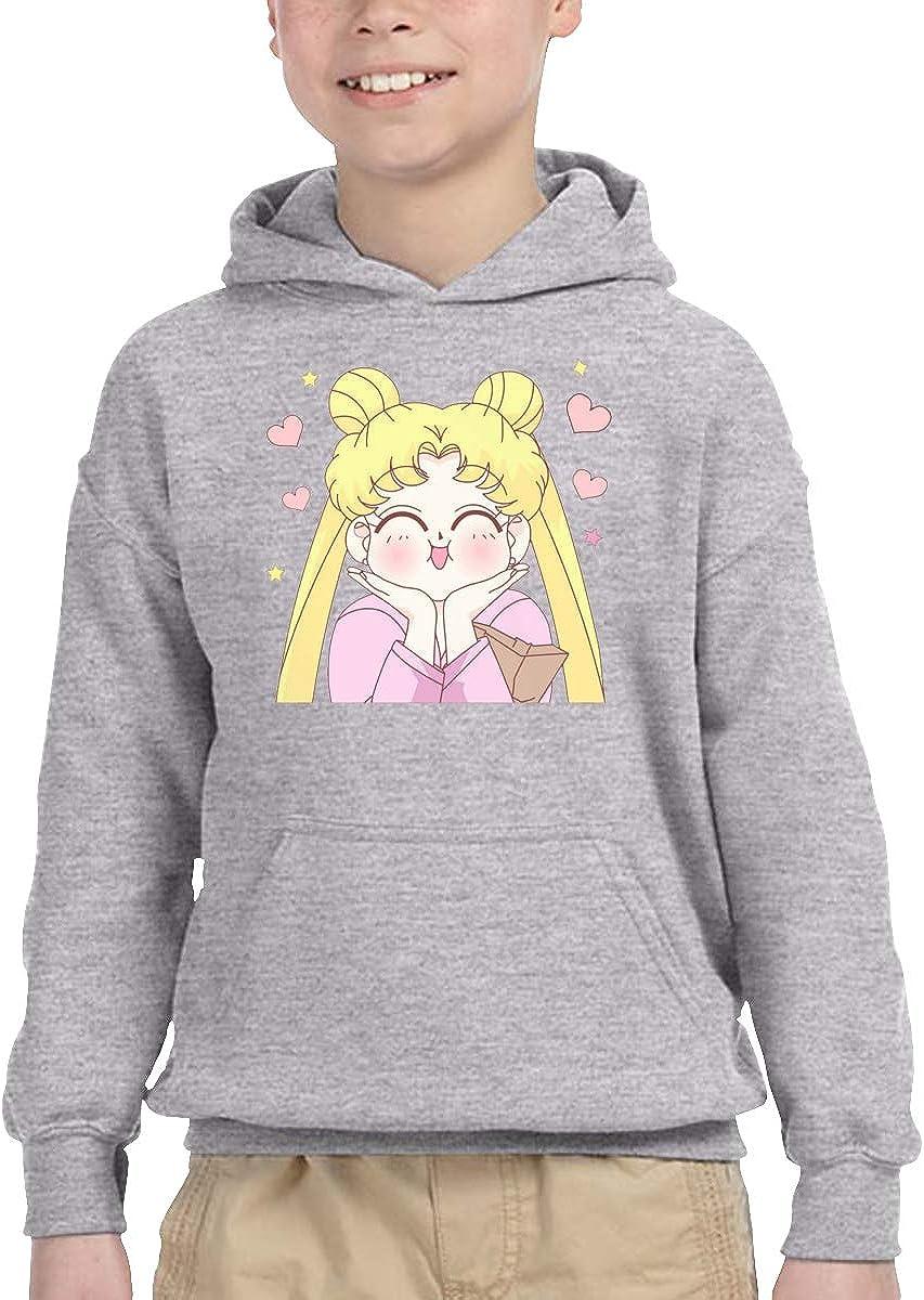 Amazon Com Shannonstone Boys Aesthetic Tumblr Cute Sailor Moon Simple Kangaroo Pocket Sweatshirt With Hat For Daily Clothing