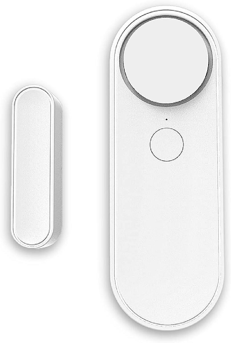 YOUYO Tuya Smart WiFi - Sensor de puerta y ventana, sistema de seguridad para el hogar, control remoto para teléfono móvil, alarma en tiempo real, bajo consumo de energía