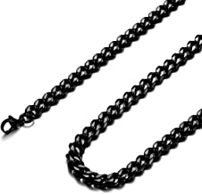 Jonline24h Mens Stainless Steel Necklace Chain 18-30inches, Black, 6.5mm