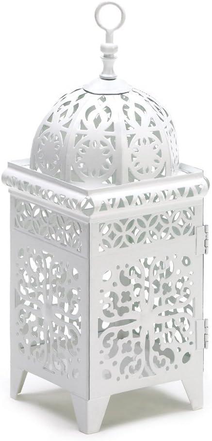 20 Milwaukee Mall Wholesale Manufacturer regenerated product White Scrollwork Lantern Wedding Centerpiece Candle