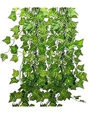 Formemory フェイクグリーン 観葉植物 アイビー 造花 藤 壁掛け 葉 グリーン 24本入れ インテリア 飾り ホーム オフィス ベランダ ガーデン 吊り 人工観葉植物 植物装飾 結婚式 パーティー 装飾 植物