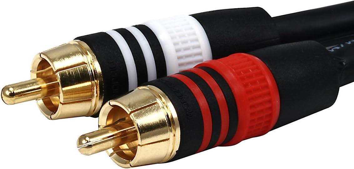 W In-akustik 0080581/Premium RCA doble hembra est/éreo; RCA Bulk W Oro Cinch