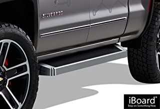 APS iBoard Running Boards Style Custom Fit 2007-2018 Chevy Silverado GMC Sierra Double Cab Extended Cab & 2019 2500 HD (Exclude 07 Classic)(Include 19 1500 LD) (Nerf Bars Side Steps Side Bars)