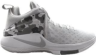 NIKE Mens Zoom Witness Lebron Sneakers New, White/Grey Camo 852439-101 SZ 12
