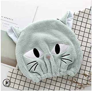 LBLMS Dry Hair Cap Female Super Absorbent Towel Dry Wipe Quick-Drying Towel Turban Cute Shampoo Shower Cap (Color : A)