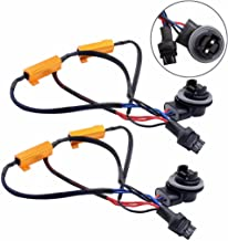 Jahyshow 3157 3057 4157NA 50W 6Ohm Error Free LED Lights Load Resistor Adapter Fix Flashing Fast Blinking Canbus Bypass Wiring Harness for Upgrading LED Turn Signal Blinker Light Lamps