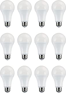 TCP 100 Watt LED A21, 12 Pack, 1600 Lumens, Soft White (2700K), Energy Star Rated Dimmable Light Bulbs