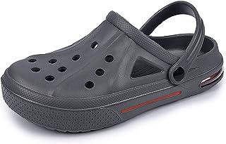 COOPCUP Hombres Zuecos Jardín Zapatos Sandalias Verano Piscina Al Aire Libre Baño Mulas Playa Zapatillas