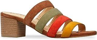 Van Dal Women`s Back Open Toe Sandals, Tan Suede Multi, 37.5