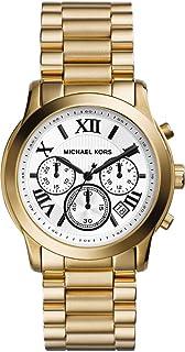 ساعة يد نحاسية بمينا من الاستانلس ستيل الوايت، للنساء من مايكل كورس - MK5916