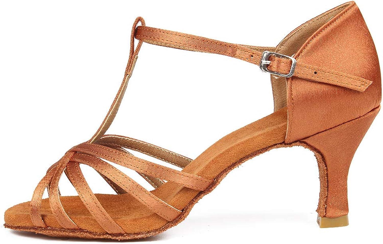 SWDZM Women's Standard Latin Dance shoes Satin Ballroom Model-4030