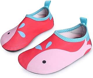 L-RUN Unisex Quick-Dry Water Sports Aqua Swim Barefoot Shoes for Little Kids Red 2.5-3.5=EU 34-35