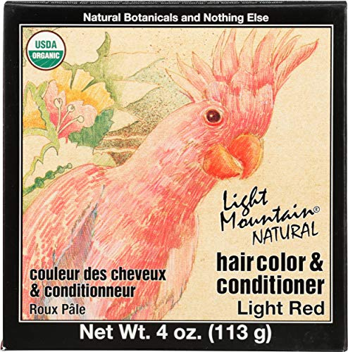 Light Mountain Natural Hair Color & Conditioner, Light Red 4 oz Powder by Light Mountain