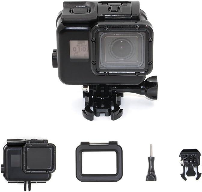 TELESIN pantalla táctil 45M caja de buceo impermeable + puerta trasera táctil LCD para GoPro Hero6 / 5 negro carcasa de buceo protectora fotografía submarina Accesorios para cámaras - Negro
