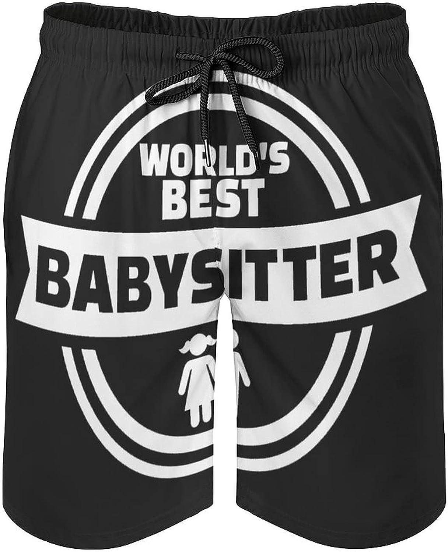 B&MAVIS Infant Babysitting Babysitter Men's Summer Quick Dry Swim Trunks Casual Board Shorts Beachwear for Boys Men