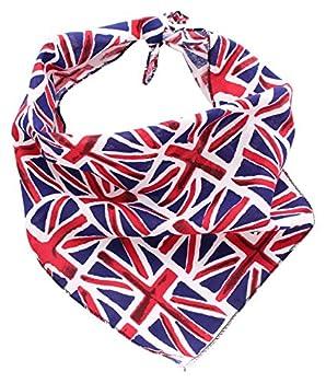 Pet Pooch Boutique Bandana pour Chien Motif Drapeau Britannique Taille M/L