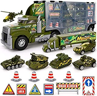 Big Daddy Army Transport Truck Military Toy Truck with Lights and Sound Emergency Quick Release Effect