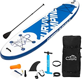 """Inflatable Stand Up Paddle Board 10'6"""" with Premium SUP Accessories & Carry Bag,Non-Slip Deck,Wide Stance,Bonus Waterproof..."""