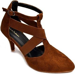 Fashion Box Women's Western Heels Fashion Sandals