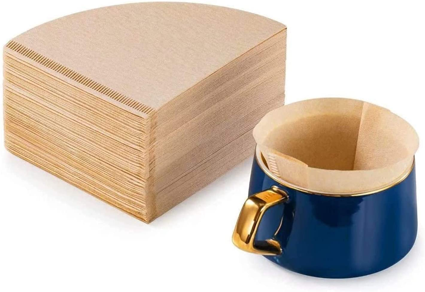 Cone specialty shop Max 85% OFF Coffee Filter Papers 100Pcs Natural Un