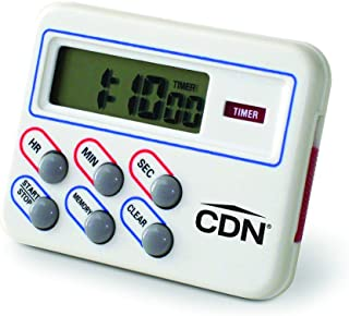 CDN TM8 Digital Timer and Clock Memory Feature, 6.8 x 4.5 x 0.9 inches, Cream