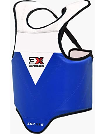 RDX Chest Guard Boxing MMA Martial Arts Maya Hide Rib Shield Armour Taekwondo Body Protector Training L-XL CE Certified Approved Black//White