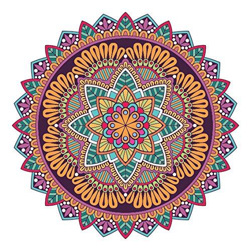 Influent-uk Bunter Mandala - Entwurfs - Aufkleber | Laptop, Auto, Kühlschrank, Wandkunst Aufkleber