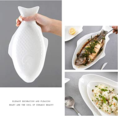 UPKOCH Fish Platter Food Trays Ceramic Plate Appetizer Serving Tray Snack Storage Dish for Sushi Appetizer Fruit Cheese Dinne