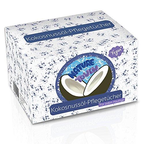 15 Vegane Abschminktücher Mit 100{ff97f1fb0d53a63bcdf9674f772b9c4d0673072cc90b55e4508fe7d07a7d8238} Kokosöl - Gesichts-Reinigungstücher Für Sensible Haut - Gegen Pickel & Mitesser - Make Up Entferner (Auch Wasserfestes) - Nachtpflege - MADE IN GERMANY
