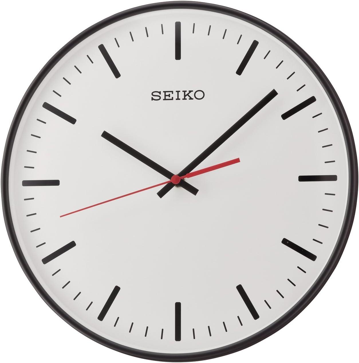 Seiko QXA701K - Reloj de Pared (plástico), Color Negro