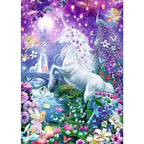 3ABOY 5D Diamond Painting Unicorn Kits for Adults,Diamond Art Unicorn Kits for Kids Animals for Home Wall Decor(The Dream unicorn11.8X15.7Inch)