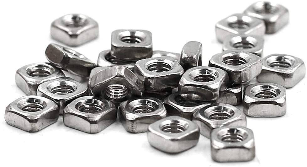 Yoohey 90PCS 55% OFF New Orleans Mall M3 M4 M5 Stainless Steel Nuts Square 304