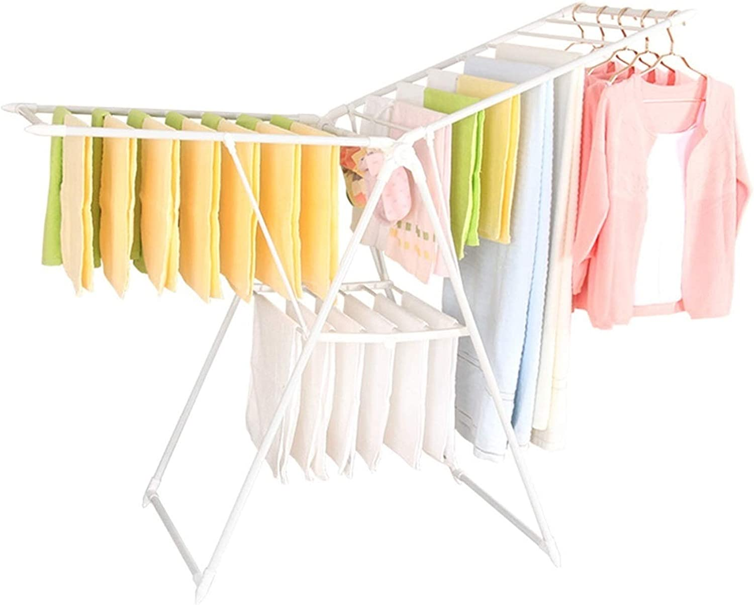XIAOQIU discount Clothes Drying Rack Airer Laundry Stainless Raleigh Mall for