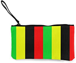 YJMHstore Rasta Jamaica Raggae Canvas Coin Purse Mini Zipper Change Bag with Handle