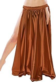 "Kaurvaki Hub Satin Side slit skirts 38"" Belly Dancing Costumes Tribal Dance Jupes S 1"