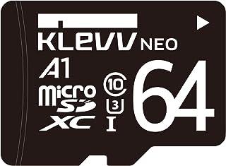KLEVV microSDXC 64GB UHS-I U3 Class10 V10 A1 最大読込:100MB/s 最大書込:47MB/s 永久保証 K064GUSD3U3-NJ