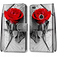 Laybomo Huawei P8 Lite (2017) ケース カバー 手帳型, [カードスロット]および[キックスタンド]付きの磁気閉鎖完全保護設計ウォレットフリップ 財布型カバー対応 Huawei P8 Lite (2017)電話ケース, 塗る 4
