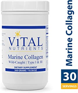Vital Nutrients - Marine Collagen Powder - Type 1 & 3 Collagen Protein Supplement - 300 Grams