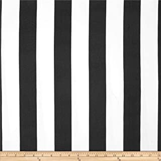 Premier Prints Stripe Black/White Fabric by The Yard