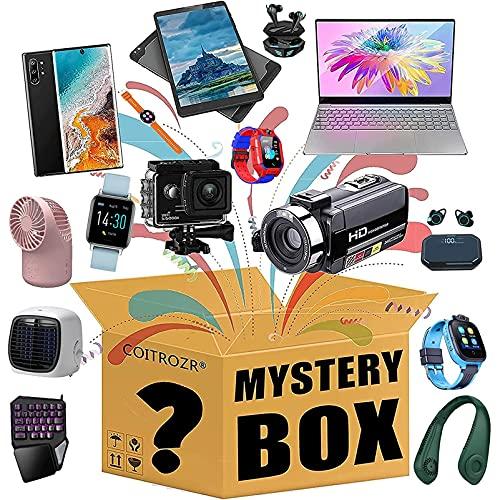 MIAOKU Mystery Box, slumpmässig överraskning, kan öppnas: Elektronik, leksaker, drönare, smarta klockor, bärbara datorer med mera etc., allt är möjligt