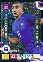 Dimitri Payet 2018 Panini Adrenalyn XL Road to Russia EXCLUSIVE LIMITED EDITION Card! Awesome Special Great Looking Card Imported from Europe! Shipped in Ultra Pro Top Loader to Protect it! WOWZZER!