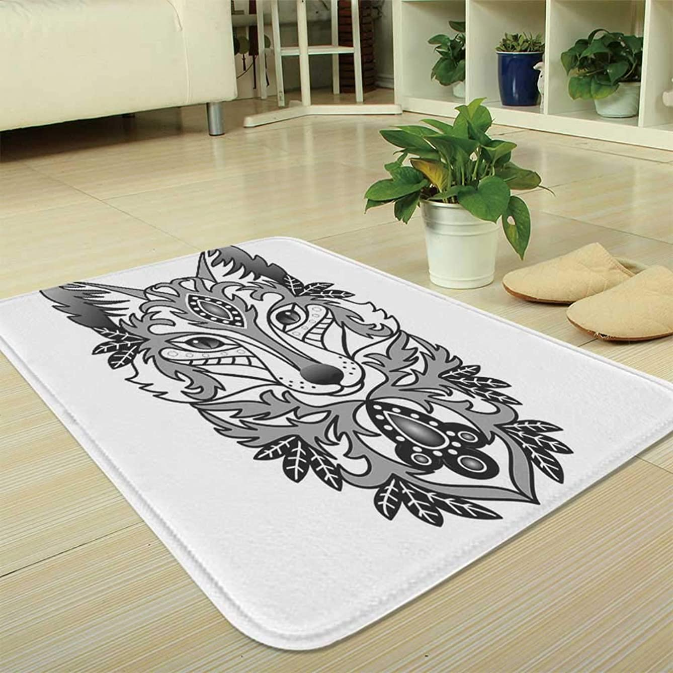 YOLIYANA Bath Mat,Fox,for Dining Room Bathroom Office,35.43