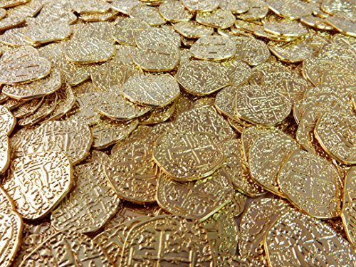 Lot of 50 Shiny Metal Gold Pirate Treasure Coins by Great American Coin Company