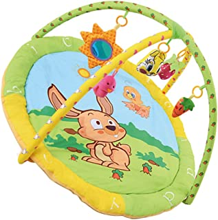 Baosity Baby Large Cotton Playmat Tummy Time Activity Gym Floor Mat with Toys - Rabbit