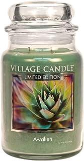 Village Candle Awaken 26 oz Glass Jar Scented Candle, Large