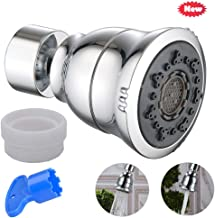 Kaxich New 360°Swivel Water Saving Tap Dual-Flow Brass Faucet Aerator Splash-proof Nozzle Filter Tap Diffuser Booster with 24mm Male Thread Adapter and Plastic Removal Tool, Kitchen Accessories
