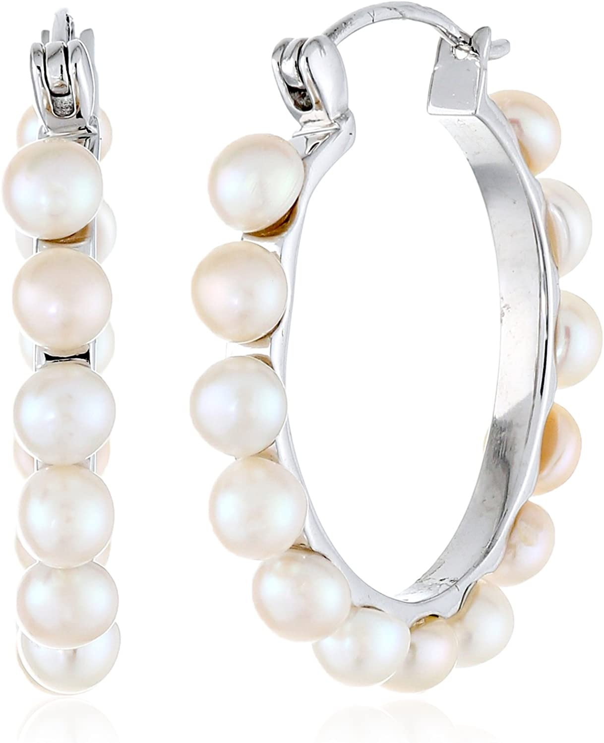 Bella Pearl Hoop Our shop OFFers the best service Earrings Max 51% OFF